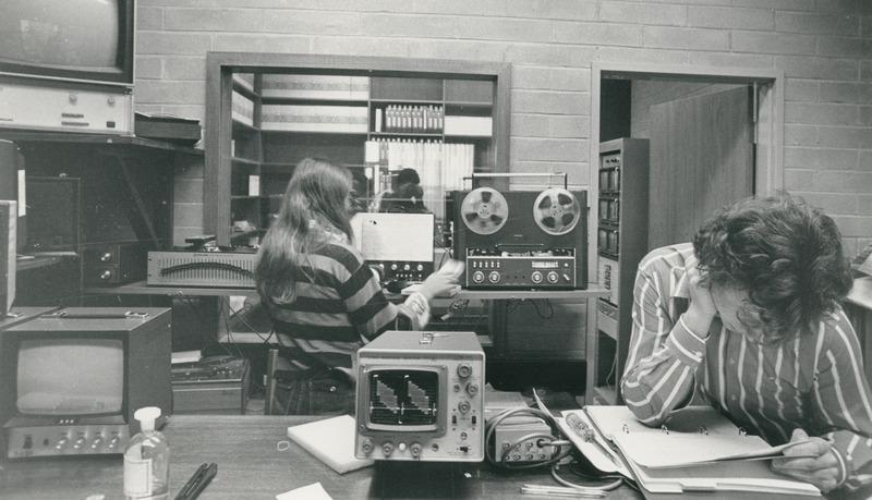 Recording in the media studio